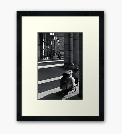 Scooter in Rome Framed Print
