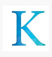Kappa-blue Photographic Print