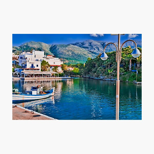 SISSI HARBOUR, CRETE..! Photographic Print