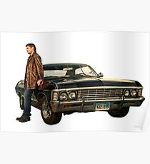 Dean with Impala - Supernatural Poster