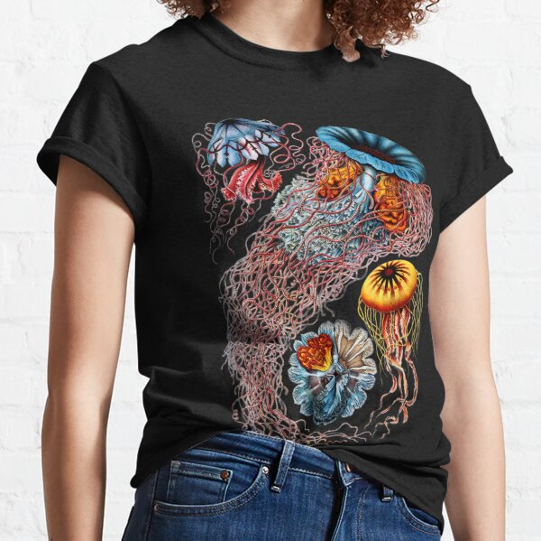 Vintage Jellyfish by Ernst Haeckel Classic T-Shirt