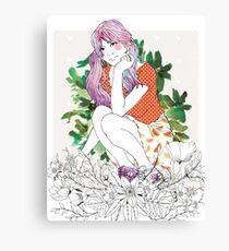 Girl's Diary Collection - Sensitive Canvas Print