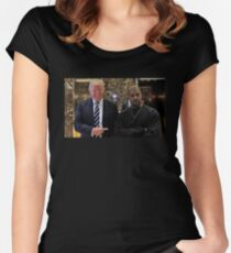 Trump & Kanye Women's Fitted Scoop T-Shirt