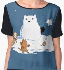 Snowcat Chiffon Top