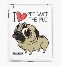 I HEART PEE WEE THE PUG iPad Case/Skin