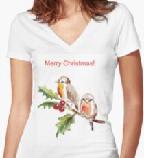 Merry Christmas to you! Women's Fitted V-Neck T-Shirt