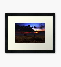 Prairie Past Framed Print