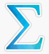 Sigma-blue Sticker