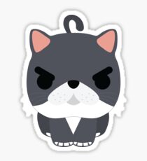 Exotic Cat Emoji Angry and Mean Look Sticker