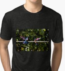 Hummer Face-Off Watercolor Tri-blend T-Shirt