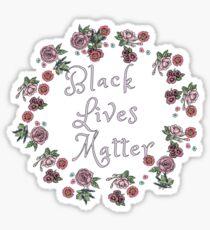 Black Lives Matter Floral Sticker