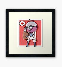 Calling Dr. Benson Framed Print