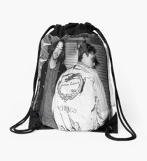 Keanu & River Drawstring Bag