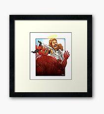 Christ Hero Framed Print