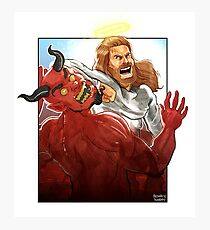 Christ Hero Photographic Print