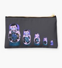 Russian Nesting Dolls - Purple Studio Pouch