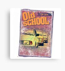 Old school low crew Canvas Print