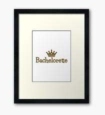 Bachelorette crown Framed Print
