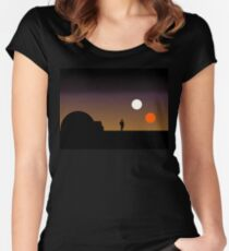 The Double Sunset... Women's Fitted Scoop T-Shirt