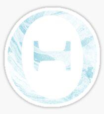 Theta-blue marble Sticker