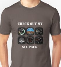Aviation 6 Pack Instrument for Pilots T-Shirt