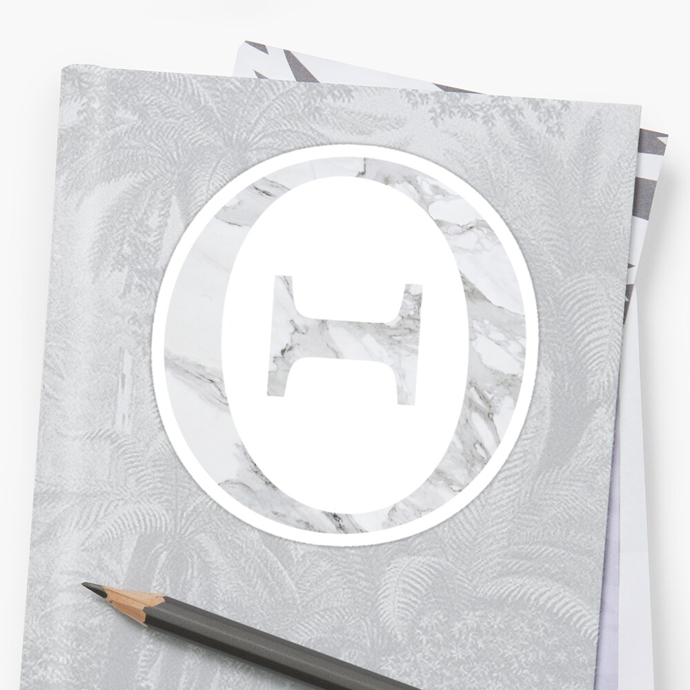Theta-marble Sticker