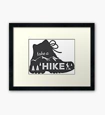 Take a Hike - Hiking Sticker Framed Print