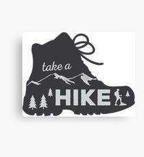 Take a Hike - Hiking Sticker Canvas Print