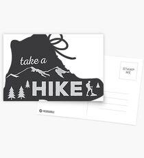 Take a Hike - Hiking Sticker Postcards