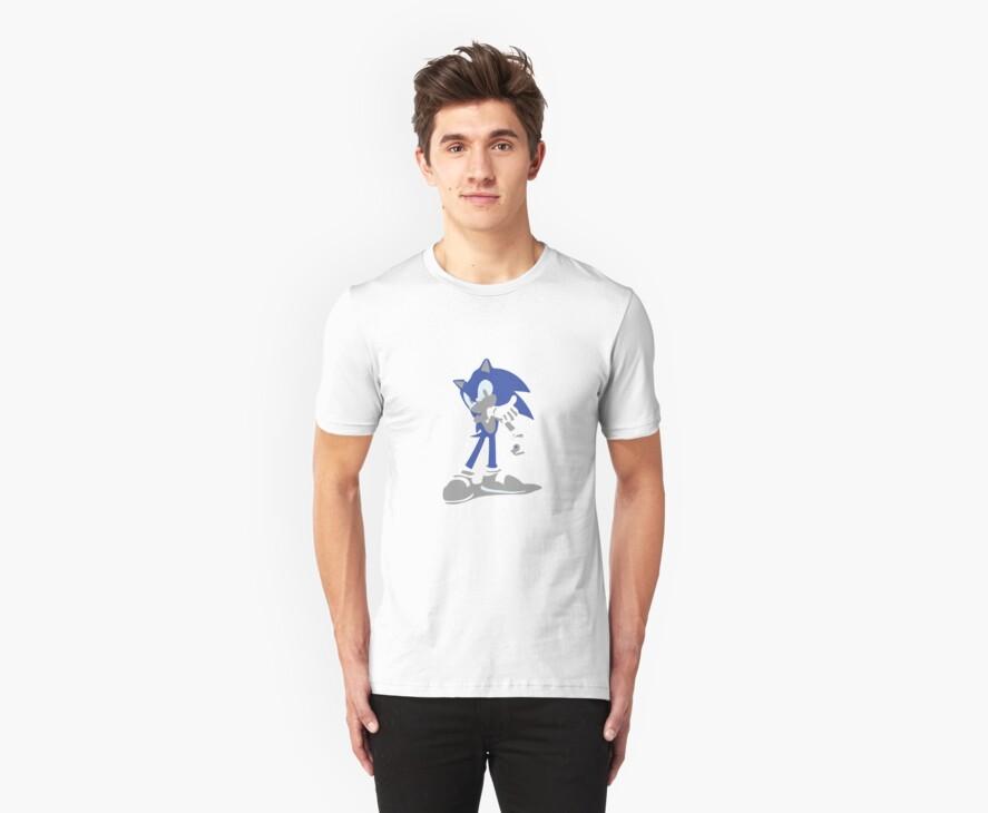 Minimalist Sonic from Super Smash Bros. Brawl by Himehimine