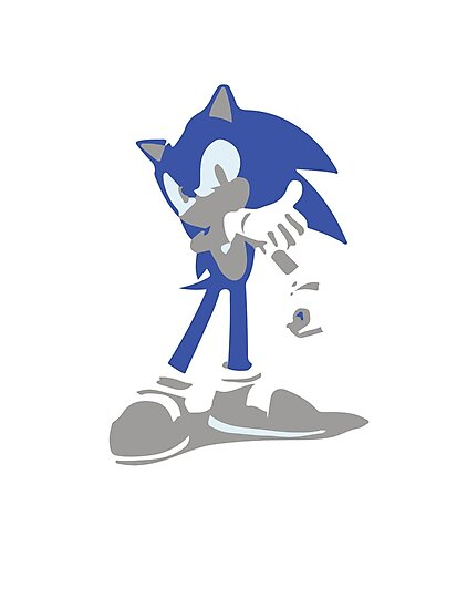 Minimalist Sonic from Super Smash Bros. Brawl by Himehimine