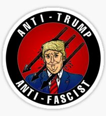 Anti-Trump Anti-Fascist Sticker