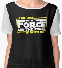 I am One With The Force And The Force Is With Me Women's Chiffon Top
