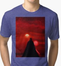 Star Wars Darth Vader Tatooine Sunset  Tri-blend T-Shirt