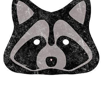 Raccoon Face T-Shirt by boscotjones