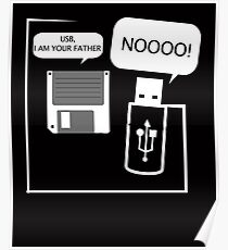 USB I Am Your Father! Funny Geeks Computer T Shirt Poster