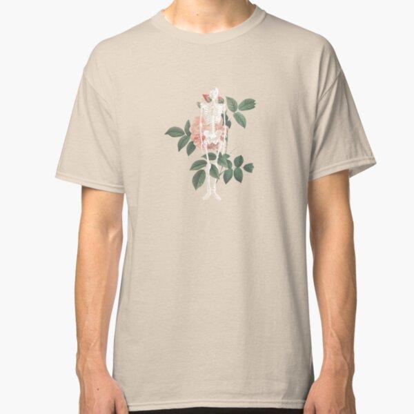 Skeleton Vintage Floral Print Classic T-Shirt