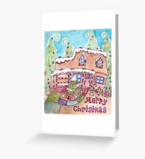 Gingerbread Christmas House Greeting Card