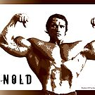 Arnold Schwarzenegger - Front Double Biceps Pose by muscle-art