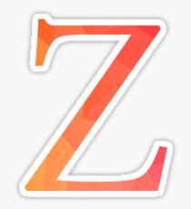 Zeta-red Sticker