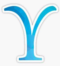 Upsilon-blue Sticker