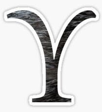 Upsilon-black texture Sticker