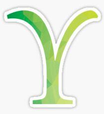 Upsilon-green Sticker