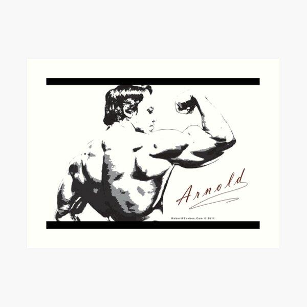 Arnold Schwarzenegger - Rear Bicep Shot Art Print