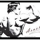 Arnold Schwarzenegger - Rear Bicep Shot by muscle-art