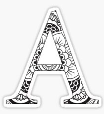 Alpha-mandala design Sticker