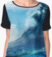 Beach Waves Ocean Water Dove Birds  Chiffon Top