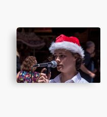 Singing for Christmas Canvas Print
