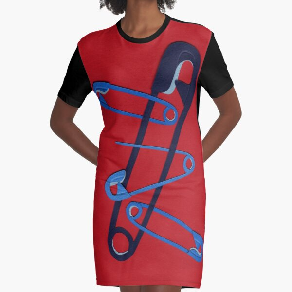 Safety Pin #28 Graphic Dress Graphic T-Shirt Dress