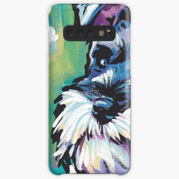 Schnauzer Bright colorful pop dog art Samsung Galaxy Snap Case